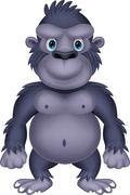 Gorilla cartoon Stock Illustration