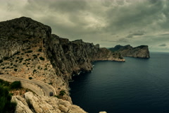 Headland at Cap Formentor Majorca, Spain 6K Stock Footage