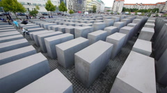 The Holocaust Memorial, Berlin, Germany Stock Footage