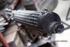 older machine gun in the store - stock photo