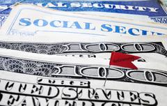 Social security retirement flag Kuvituskuvat