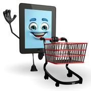 Tab character with trolley Stock Illustration