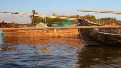 Fishing port in the Danube Delta Stock Footage