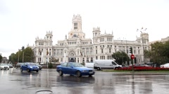 The Madrid, Spain City Hall building. Stock Footage