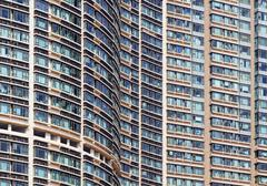 new apartments in hong kong - stock photo
