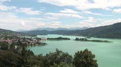 Beautiful austrian lake. Stock Footage