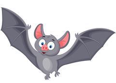 Bat cartoon flying Stock Illustration