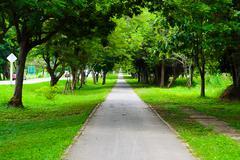 walkway park - stock photo