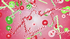 Christmas candy canes loopable background Stock Footage