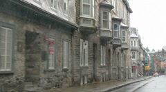 Car ride through Old Quebec City 1239 Stock Footage