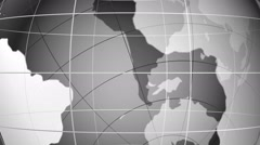 World map. Loop able media background. Greyscale. Stock Footage
