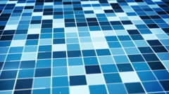 Flying over glowing blue squares seamless loop Stock Footage