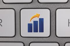 Success Graph Moving Up - stock illustration