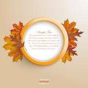 Stock Illustration of autumn ring foliage