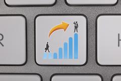 Businessman Success Graph Move Up - stock illustration