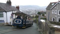 The Great Orme Tramway Tram Stock Footage