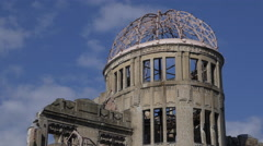 Hiroshima Atomic Bomb Dome - stock footage