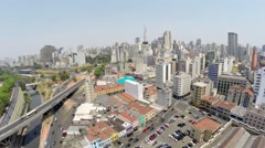 Aerial View for a Amazing Landscape in Sao Paulo, Brazil Stock Footage