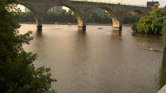 MPLS Stone Arch Bridge Stock Footage