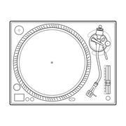 Outline vinyl turntable Stock Illustration