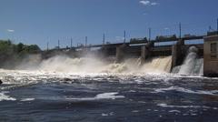 Blanchard Dam - stock footage