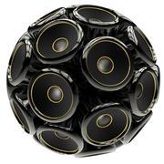 Speaker sphere Stock Illustration