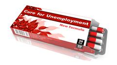 Cure for Unemployment - Blister Pack Tablets. Stock Illustration
