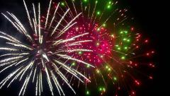 fireworks on black sky - stock footage