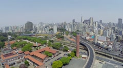 Aerial View from Prefecture of Sao Paulo, Brazil Stock Footage