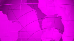 World map. Loop able media background. Magenta. Stock Footage