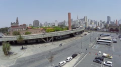 Aerial View from Parking Lot close to Mercado Municipal Stock Footage