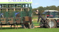Photographer takes photo at Horse Racing start boxes panning HD Footage