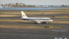 USAirways vintage Allegheny airlines jet Stock Footage
