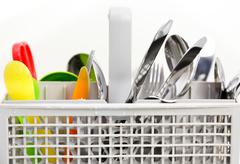 Clean dishes - stock photo