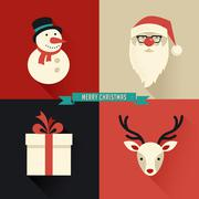 Christmas icons design - stock illustration