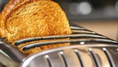 Toast popping up - stock footage