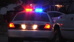 Police cars at scene Stock Footage