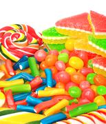 marmelade, caramels, lollipops, liquorice - stock photo
