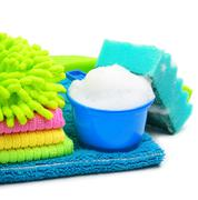 foam, suds, sponge, microfibre, towels, napkins - stock photo