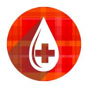 Blood red flat icon isolated. Stock Illustration