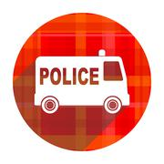 Police red flat icon isolated. Piirros