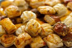 savoury pastries mini selection - stock photo