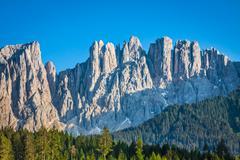 peak of latemar in south tyrol,dolomite, italy - stock photo