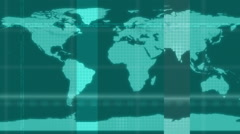 High Tech Futuristic Map Loop Stock Footage