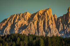 Dolomiti - latemar at sunset light Stock Photos