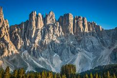 Peak of latemar in south tyrol,dolomite, italy Stock Photos