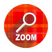 zoom red flat icon isolated. - stock illustration