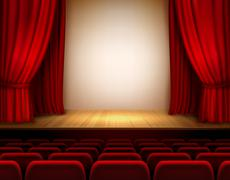 Theater stage background Stock Illustration