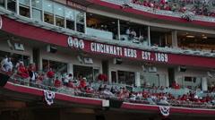 Grandstand letters Cincinnati Reds Est 1869 - stock footage