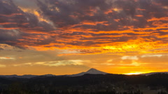 Time Lapse of Sunrise and Clouds over Happy Valley with Residential Homes in OR Stock Footage